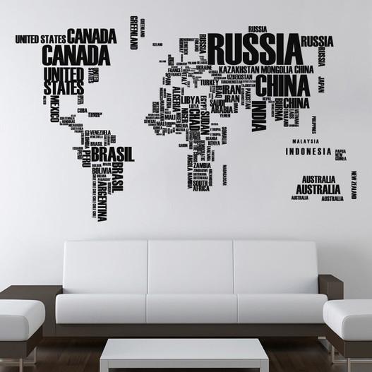 #1 bogstaver verdenskort