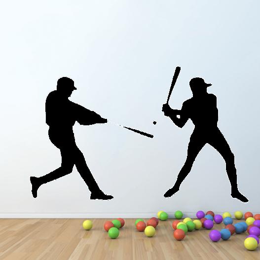 Baseballspillere wallsticker