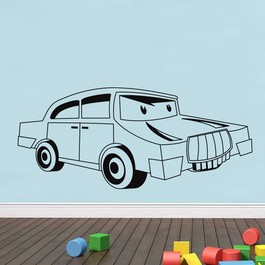 Bil med øjne wallsticker