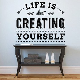 Creating yourself wallsticker