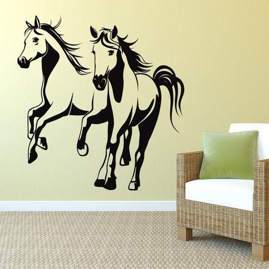 Galoperende heste wallsticker