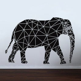 Geometrisk elefant wallsticker