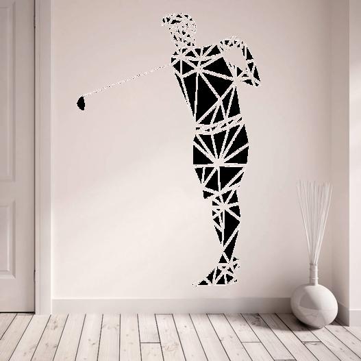 Geometrisk golfer wallsticker