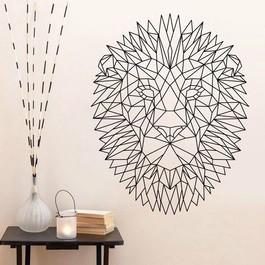 Geometrisk løve wallsticker