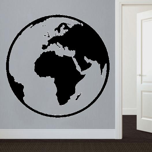 Globus wallsticker