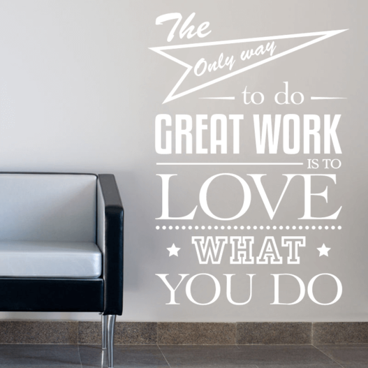 Great work wallsticker