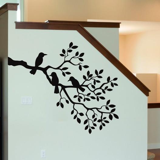 Gren med fugle wallsticker