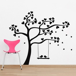 Gynge med turtelduer wallsticker