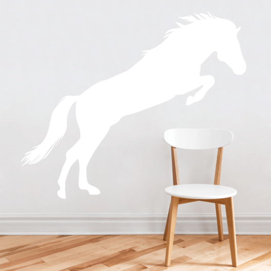 Hest i spring wallsticker