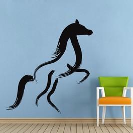 Hest med penselstrøg wallsticker