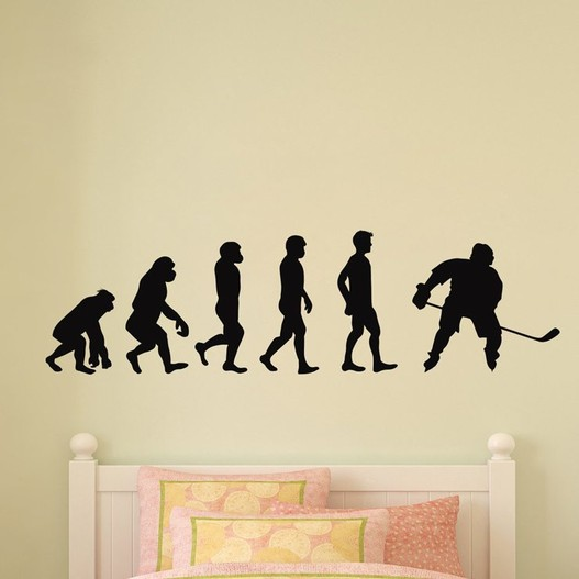 Ishockey evolution wallsticker