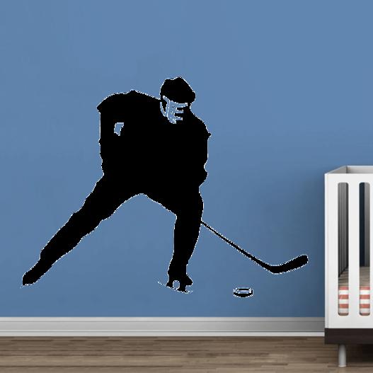 Ishockeyspiller wallsticker