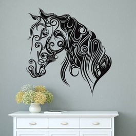 Kalligrafisk hestehoved wallsticker