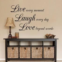 Live laugh love wallsticker