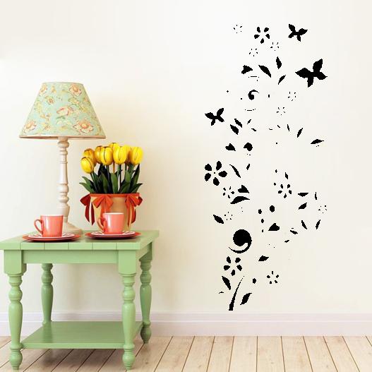 Livlig blomst wallsticker