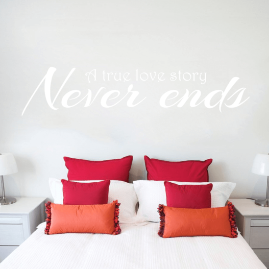 Love story wallsticker