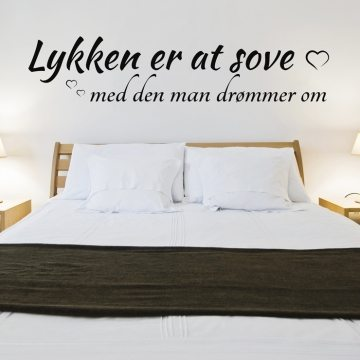 Lykken er at sove wallsticker