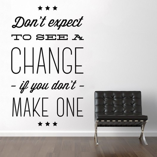 Make a change wallsticker