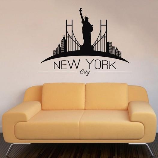 New York wallsticker