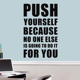 Push yourself wallsticker
