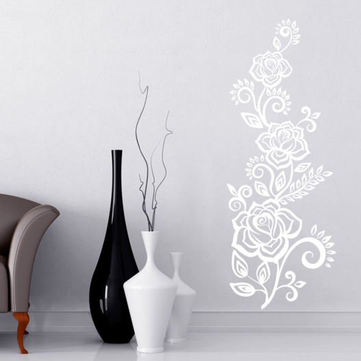 Slyngrose wallsticker