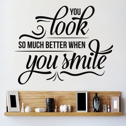 Smile wallsticker