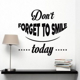 Smile today wallsticker
