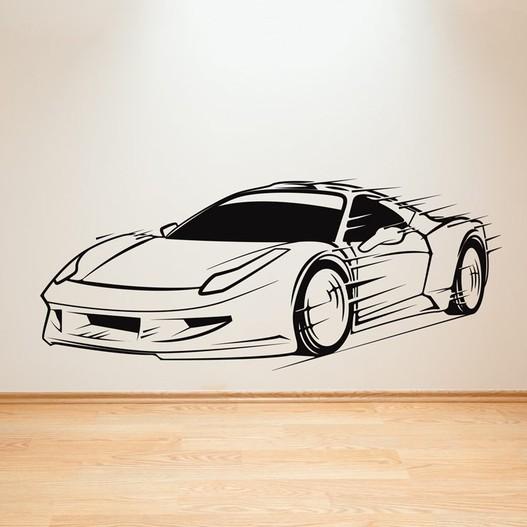 Sportsbil wallsticker