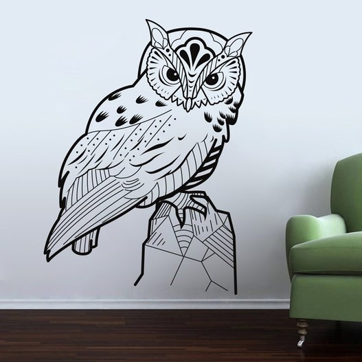 Ugle wallsticker