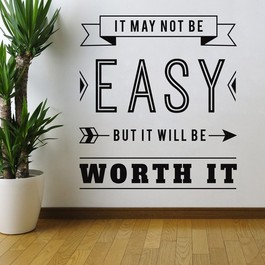 Worth it wallsticker