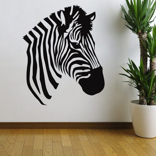 Zebrahoved wallsticker