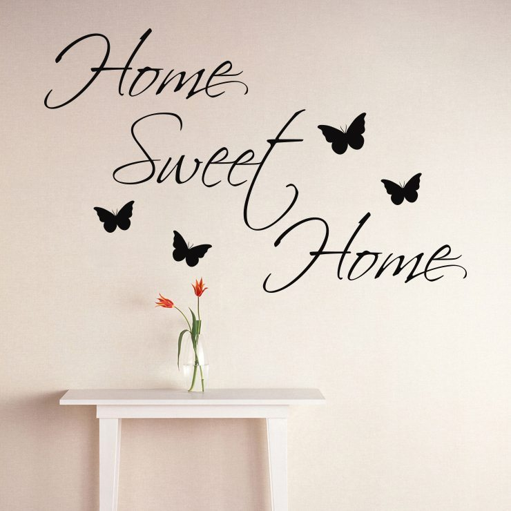 1 home sweet home wallsticker fra 139 kr. Black Bedroom Furniture Sets. Home Design Ideas