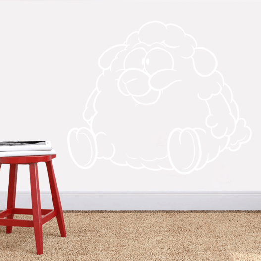 Buttet får wallsticker