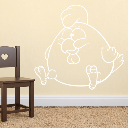 Buttet hane wallsticker