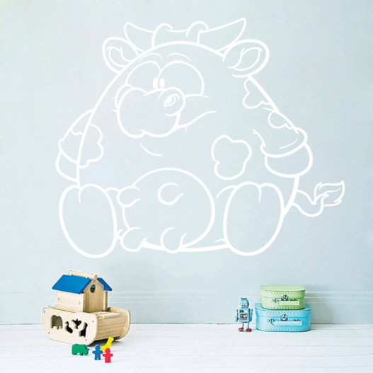 Buttet tyr wallsticker