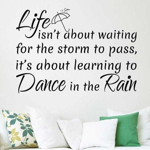 Dance in the rain wallsticker