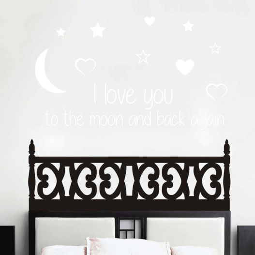 I love you to the moon and back again wallsticker