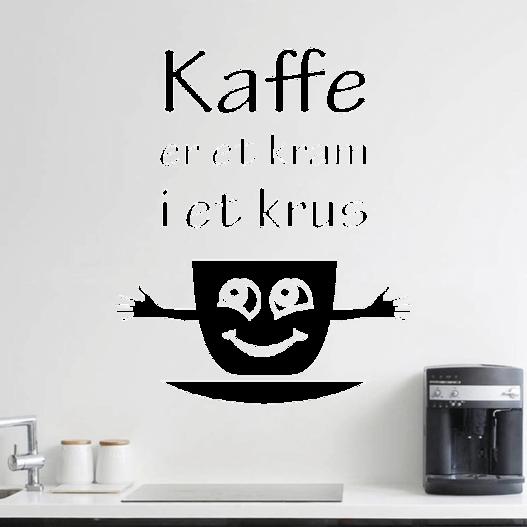 Kaffe kram wallsticker
