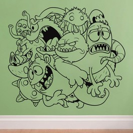 Monstre i flok wallsticker