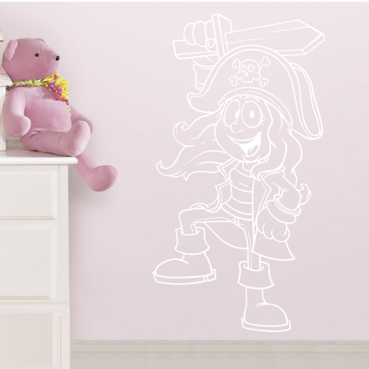 Pigepirat wallsticker