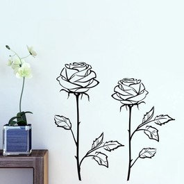 Roser wallsticker