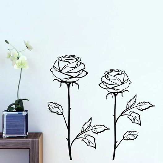 Roser wallsticker