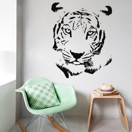 Tigerhoved wallsticker