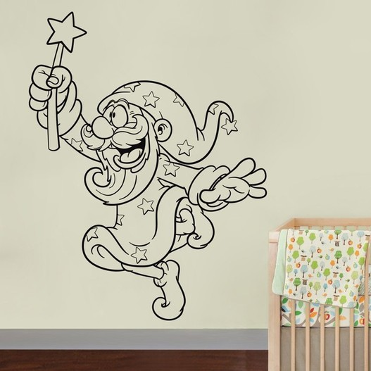 Troldmand wallsticker