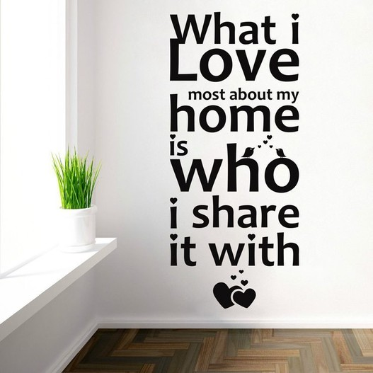 What i love most wallsticker