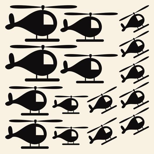 Helikoptere wallsticker