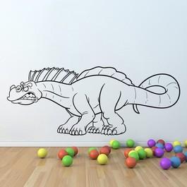 Knurende dinosaurus wallsticker