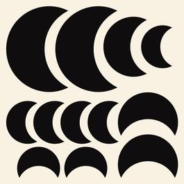 Måner wallsticker