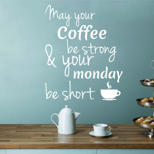 Strong coffee wallsticker