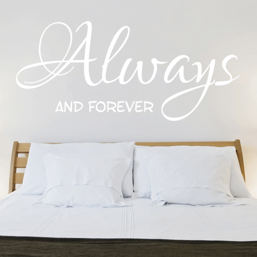 Always and forever wallsticker